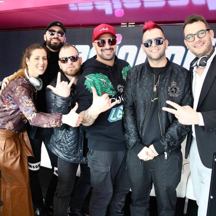 Sanremo i boomdabash con Radionorba