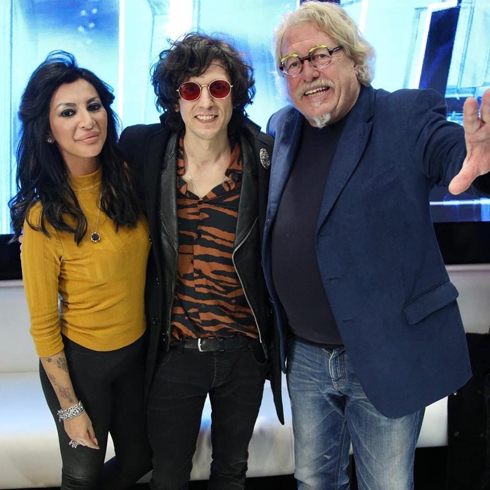 Federico, Claudia con Ermal Meta